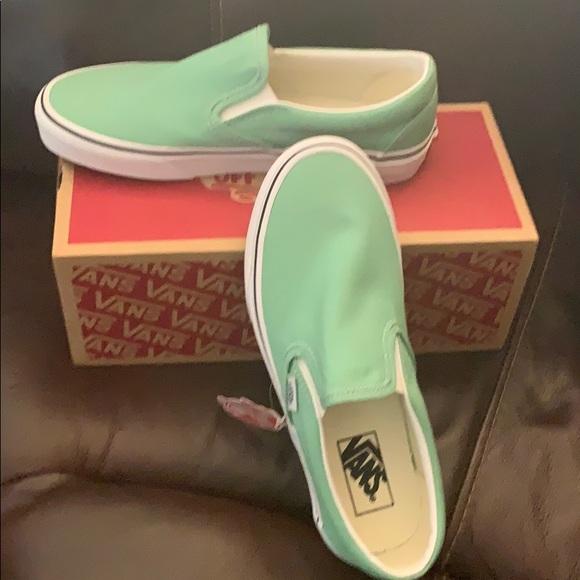 Vans Shoes | Vans Slip On Neptune Green